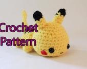 Crochet Pattern for Mini Pokemon Chibi Pikachu Amigurumi Yarn Character - Instant Digital Download