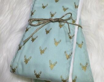 Deer Burp Cloth - Mint - Burp Cloth - Woodland Deer
