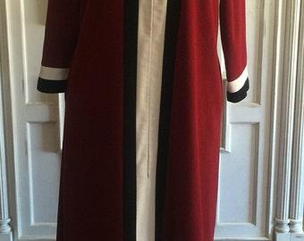 SALE 1970's Vanity Fair Soft Floor Length House Robe// Color Blocked Robe