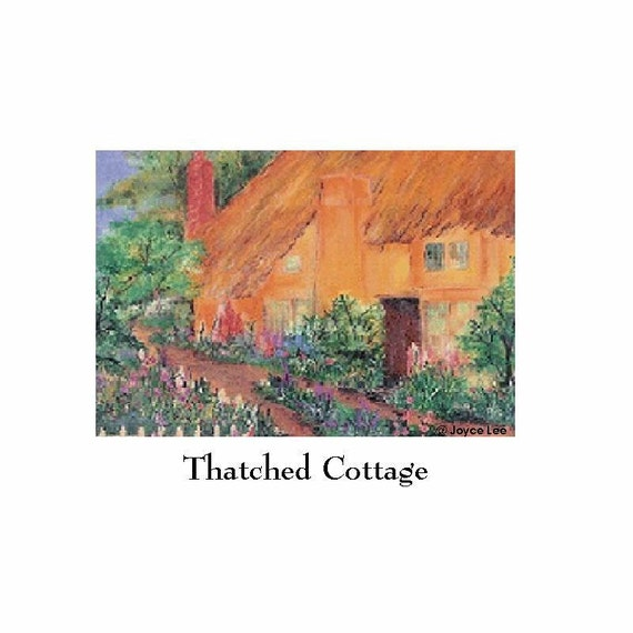 16 X 20    A Fine Art Giclee Print             Thatched Roof Cottage
