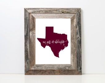 We Yell at Midnight  Print | TAMU | Texas A&M | Texas Aggies |  Midnight Yell | Aggie Grad | Aggie Art Prints