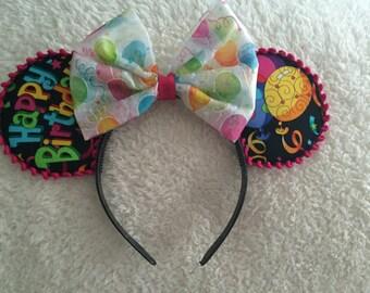 Birthday Minnie Mouse Ears Headband