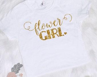 Flower Girl Shirt Bridal Party Shirt Flower Girl Glitter Shirt  Wedding Party Shirt Wedding Party Gift  Bridal Party Gift Flower Girl Shirt