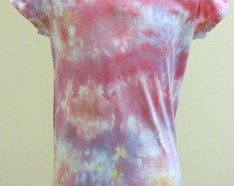 Girl's T-Shirt, Size 7, Hand-dyed, Multi-Coloured, OOAK T-Shirt