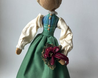 Vintage Handmade Faceless Doll Traditional Costume