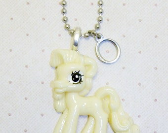 Large Pale Yellow My Little Pony Necklace With Initials, Pony Necklace, Pony Jewelry, Childrens Necklace, Initial Necklace