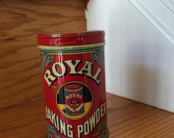 1940's Vintage Lithographed Royal Baking Powder Tin