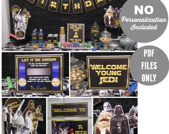 CLASSIC | GOLD | Star Wars Party Printable | Instant Download | Star Wars Birthday | Party | Printable | Decorations | Epic Parties by REVO
