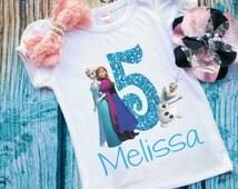 Birthday Shirt. Birthday Girl. Frozen Inspired. Disney Inspired. Birthday Girl Shirt. Themed Birthday Shirt. Frozen Movie. Frozen Themed