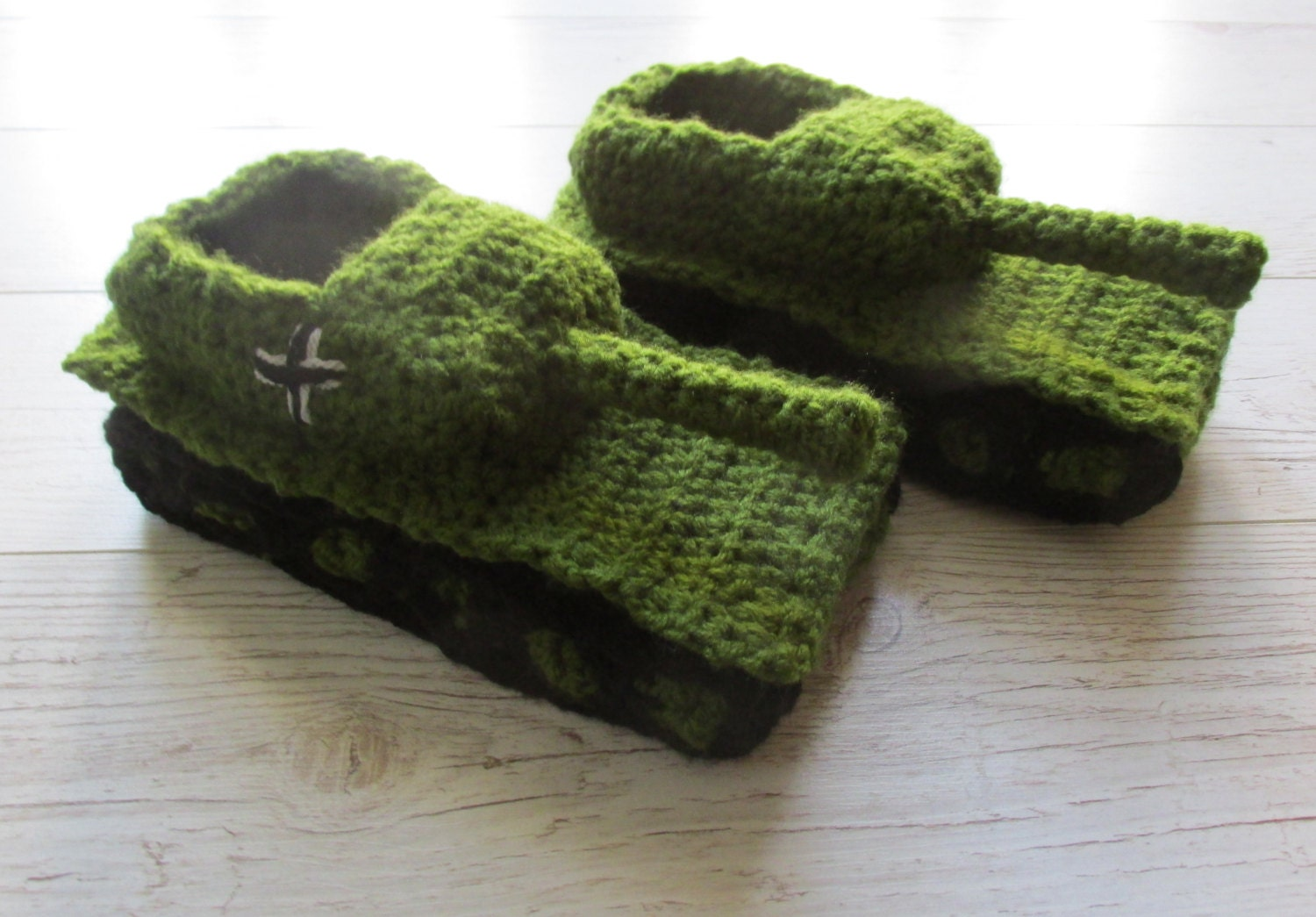 Crochet tank slippers father gift Valentines gift crochet