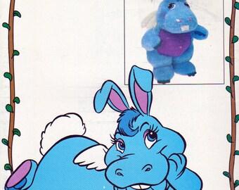 Butterick 3500, Walt Disney Wuzzles, Hoppopotamus Hipolap Stuffie Sewing  Pattern, Uncut, Circa 1985