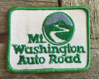 Mount Washington Auto Road Vintage Souvenir Travel Patch