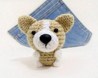 Amigurumi Corgi. Crochet Corgi. Corgi plushie. Crochet dog. Stuffed Corgi.