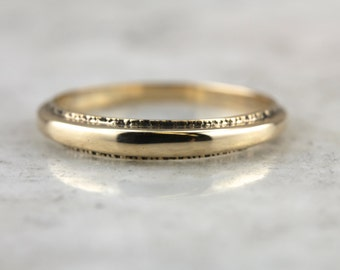 Tapered, Textured Dome Ring in Yellow Gold,  R2L9W0-N