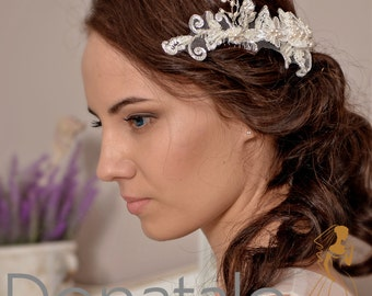 Bridal Headpiece Bridal hair Comb Wedding Hair Comb Decorative Comb Bridal Hair Accessories  Hair Comb - NINON