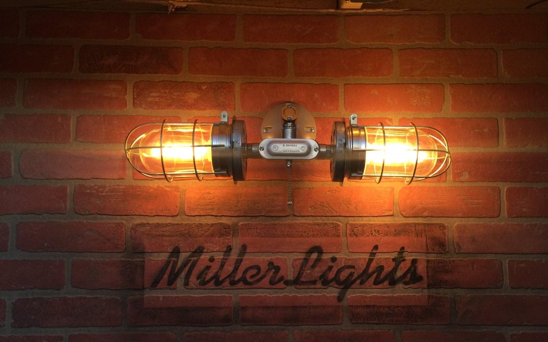 Popular  Vintage Industrial Flush Mounted Lighting  Vintage Industrial