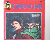 Gremlins, 1980s Vintage Read Along Book For Children, Gizmo Movie Tie In, starring Zach Galligan, Phoebe Cates,  BOOK ONLY VCH01194