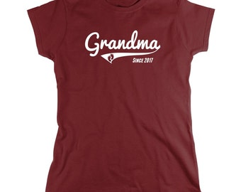 Grandma Since 2017 shirt, new grandma, new baby, gift for mom - ID: 1774