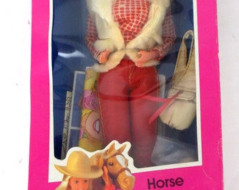 1982 Mattel Barbie 1757 Horse Lovin Doll Complete with Box