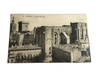 Avignon - Le Palais du Papes . French Vintage Postcard . Topographic Postcard France.