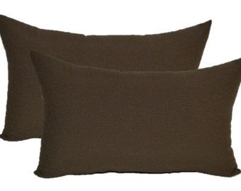 set of 2 in outdoor large jumbo over sized rectangle lumbar - Large Decorative Pillows