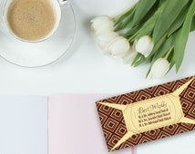 Personalised Printable Art Deco Envelopes - Both Sides - Gold and Maroon - Wedding Stationery