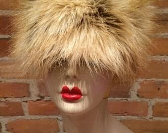 FAUX Red Fox Fur Hat