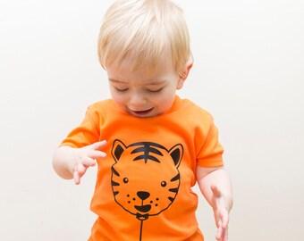 Tiger Balloon short sleeved kids t-shirt