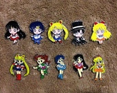 LOT OF 5 or 10 Sailor Moon Hat Pin Set - Handmade, Repurposed From Charms Set D