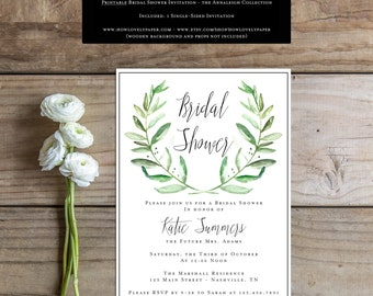 Printable Bridal Shower Invitation - the Annaleigh Collection