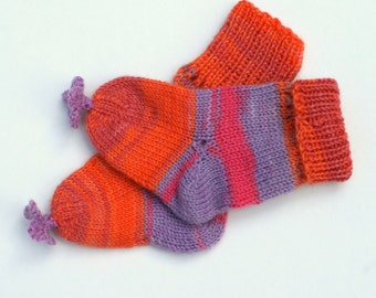 Knitted Baby Socks, Newborn Socks, Colorful Baby socks, Hand Knit, Wool Knit, Baby shower gift