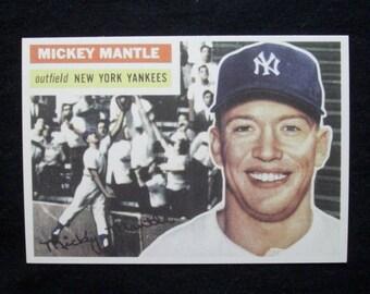 1956 Topps Baseball #135 Mickey Mantle - RP