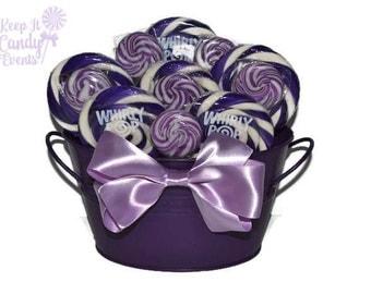 Purple Lollipop Centerpiece, Purple Candy Centerpiece, Purple Candy Buffet, Wedding Centerpiece, Purple Centerpiece, Purple Candy Decor