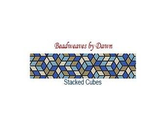 Peyote Bracelet Patterns, Beading Instructions, Optical Illusion, Illusion pattern, Bead Patterns, Beadwork Patterns, Peyote Stitch patterns