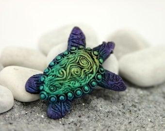 Sea Turtle Totem Figurine Fantasy Sculpture Guardian Spirit Amulet Shamanic Native