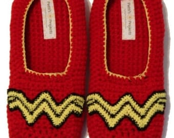 Wonder Woman Inspired slippers - Adult Sizes