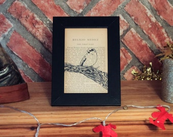 Small Vintage Book Print - Sparrow