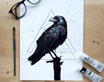 Midnight Raven - Art Print