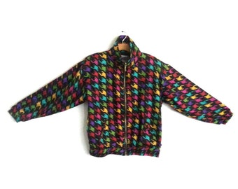 Vintage 90s Windbreaker Colorblock Silk Evr Medium