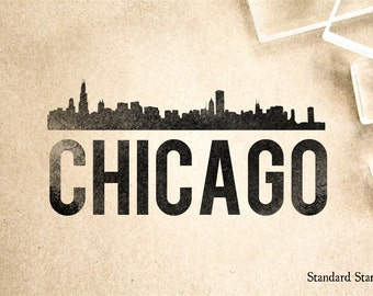 Chicago Rubber Stamp - 2 x 2 inches