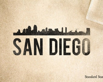 San Diego Rubber Stamp - 2 x 2 inches