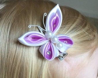 Butterfly Kanzashi Hair Clip, Girls/Baby