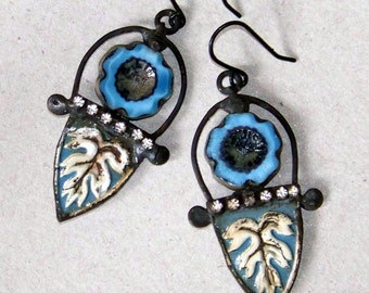Recycled  tin earrings    *833