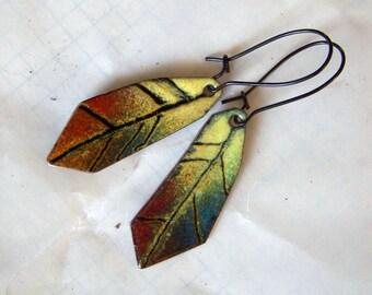 Earrings, enamel * 785