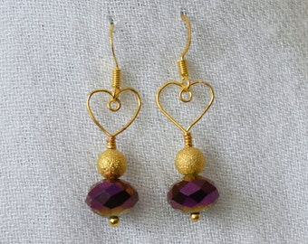 No Two Hearts Hand Forged Crystal Earrings