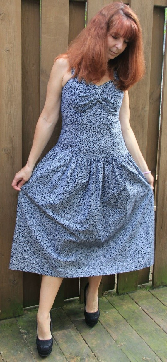 Vintage Sundress/Gunny Sack Dress/Vintage Drop Waist
