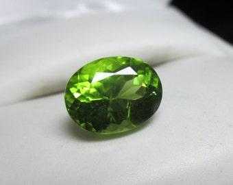 Glistening 3.51ct Natural Parrot Green Peridot-Beautiful Bright Green Natural Peridot!