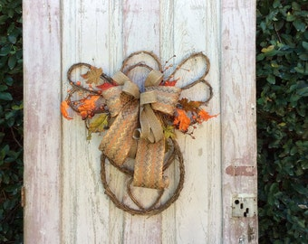 Fall door wreath,Fall wreath for front door, Fall swag,fall door hanger, fall angel, autumn wreath, fall wreaths, fall angel door hanger