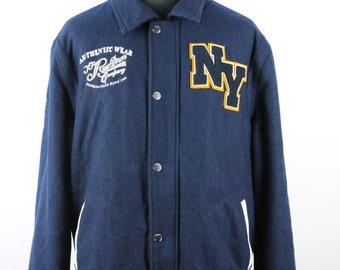 Vintage 70s/80s Baseball/Jock Jacket - american oversized retro biker jacket