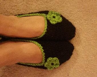 Warm Crochet Slippers Socks - Custom colors and size
